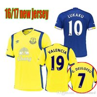 Wholesale 2016 Everton Socce Jerseys Third Jersey Yellow Everton Jersey LUKAKU MIRALLAS BARKLEY ETO O BAINES Football Shirt Kits Rugby shirts