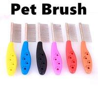 Wholesale Pet brush stainless steel Dog brush Cat Brush Grooming Long Hair Short Hair Expert deshedding Edge Designer