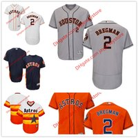 astros jerseys - 2 Alex Bregman Jersey MLB Baseball Houston Astros Jerseys Flexbase Red Black Grey White Cream size XL XL
