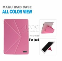 auto accessories pink - KAKU Five Fold Stand Flip Cover PU Leather Auto Wake Sleep Case with kickstand For iPad air ipad mini with package