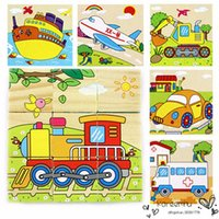 Wholesale 2016 Jouet Enfant Styles d Kids Wooden Puzzles set Animal Pattern Cartoon Puzzle Colorful Educational Wood Kid Toy Children Gift