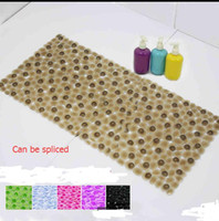 Wholesale The new family of high quality non slip mat with pebbles shower toilet can be spliced non slip bath mats sucker pads