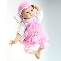 apron diy - New cm Handmade Reborn Baby Doll Soft Silicone Body Lifelike NPK Dolls with Pink Princess Apron Best Gift Toys to Child