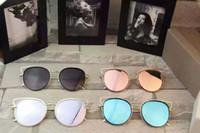 alloys list - Hot New Sunglasses Listed Alloy Plate Full Frame Round Anti radiation Fashion Polarized Sunglasses Frog Mirror Glasses Box
