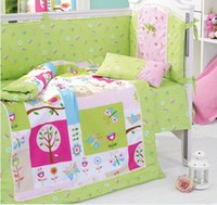 baby in cot - 8 Pieces Set In the Night Garden Green Baby Bedding Set Baby Nursery Cot Crib Bumper Quilt Fitted Sheet Dust Ruffle With Quilt