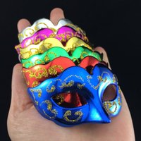 Wholesale On Sale Cute Super Mini Masks Novelty Wedding Party Gift Halloween Decoration Venetian Masquerade Party Decoration mix color