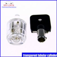 auto cylinder - New arrival transparent practice lock cylinder suit for pins tubular lock pick set professional locksmith supplies