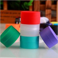Wholesale 7ML Multicolor Wax Dry Herb Jars Round Shape Silicone Container for Wax Silicone Jars Dab Wax Container E Cigarette
