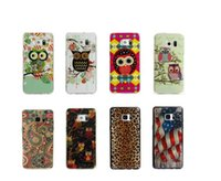 For Apple iPhone apple family - For Iphone Plus S Galaxy Note7 Note Owl UK USA Flag Soft TPU Gel Case Leopard Luxury Cute Family Cartoon Lovely Cover Skin