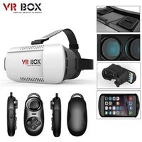 Wholesale Google Cardboard VR BOX Pro Version VR Virtual Reality D Glasses Smart Bluetooth Wireless Mouse Remote Control Gamepad with Retail Package