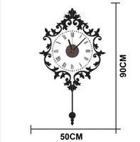 artistic wall clocks - ZY811 Removable DIY creative retro clock Artistic Wall Hanging Clocks Mechanism Wall Clock Sticker