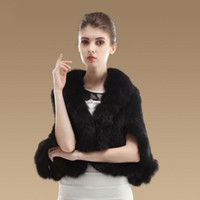 Wholesale 1Pcs Knited Mink Fur Shawl Poncho With Fox Trimming Real Mink Fur Jacket Fashion Women Style Coat