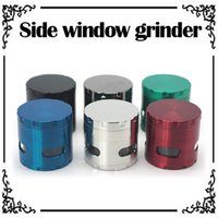 Wholesale Side Window Grinders mm Layers Metal Grinders Zinc Alloy Herb Grinders Tabacco Grinder VS Sharpstone Grinders