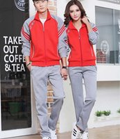 Wholesale Couples sport suit new popular fashion collar sportswear sports long sleeve pantsuits M xl sales