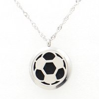 american football pads - 5PCS Sports Football Magnetic Perfume Locket Necklace Pendant MM Diffuser Stainless Steel Necklace Pendant With Free Pads