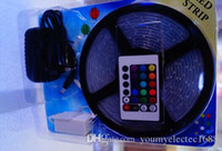 Holiday SMD 3528 Yes 10X gift box RGB 3528 5M 300 Leds Waterproof 24 44 Keys IR Remote controller 2A Power