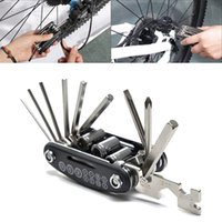 Wholesale 16 in Mountain Bicycle Tools Sets Bike Bicycle Multi Repair Tool Kit Hex Spoke Wrench Mountain Cycle Screwdriver Tool