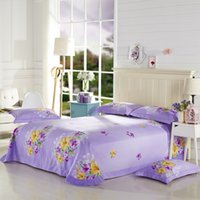 beautiful bedsheets - Beautiful Flowers Blue Purple Lily Bedding Set Queen King Size Duvet Cover Pillowcase Bedsheets Brushed Cotton Home Textile Set