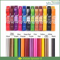 Wholesale Vision colors mah Electronic Cigarettes Ego Twist V V Vision Spin II Ecigs For E cigarette Vape Pen