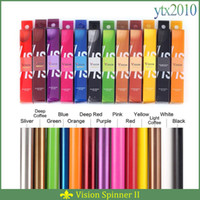 Wholesale Vision Spinner II colors mah Electronic Cigarettes Ego Twist V V Vision Spinner Ecigs For E cigarette Vape Pen