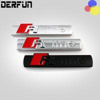 audi tt window - Car Emblem R LINE Modified Car Stickers For AUDI A2 A3 A4 A6 A6L A8 A7 TT Q3 Q5 Q7 RS3 RS5 RS7