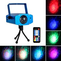 Wholesale Lixada W Stage Light Color Changing Mini LED Water Wave Ripple Effect Lamp with Controller for DJ Disco KTV Club Party Home Entertainment