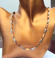 acier inoxydable 550mm solide collier blanc de la chaîne de JESUS Rose Or Argent classiques contenant environ 30% ou plus d'un alliage