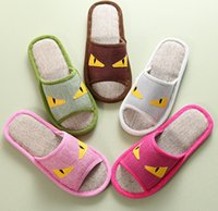 babouches slippers - men women small cartoon animal design non slip flat slippers cotton linen indoor home shoes flip flops babouches pairs