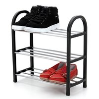 Wholesale Silver Tier Plastic Shoe Rack Shoe Cabinet Storage Organizer Stand Shelf Holder Unit Home Furniture Black