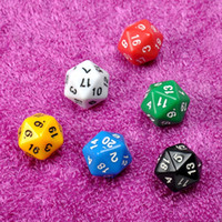 Wholesale Set D20 Dice Twenty Sided Die RPG D amp D Six Opaque Colors Multi Resin Polyhedral For Sides Dice Pop for Game Gaming Brand New