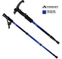 Wholesale 1 pair Yourjoy HOT section Telescopic Unisex Easy carry Bending handle Aluminum alloy Trekking pole