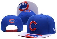 Wholesale Fashion Hot style Baseball Cap Adjustable Popular Sports Cubs Snapbacks Hat Cap Embroidered drop shipping freeshipping