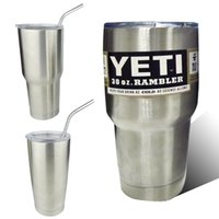 Wholesale 2016 Stainless Steel oz Yeti Cups Cooler YETI Rambler Tumbler Cup Vehicle Beer Mug Double Wall Bilayer Vacuum Insulated ml in stock