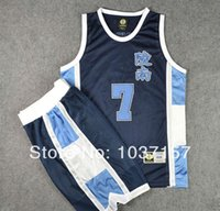 basketball costumes - New Slam Dunk Basketball Jersey and Shorts Athletic Apparel Cosplay Costume Sendoh Akira