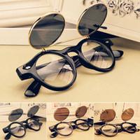 al por mayor cyber-Estilos de moda retro punky de la vendimia 1950 vidrios de las gafas de sol de los hombres El tirón del Cyber Ronda Gafas GX14 envío gratuito