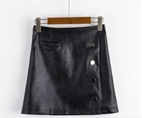 Wholesale 2016 new winter dress skirt and the wind are slim leather skirt A A line skirt Bag hip skirt spot a large amount of discount large explosive