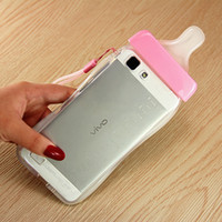 Wholesale For The iphone iphone plus Following Candy Color Pacifier With Hang Rope Soft Shell Phone Cases The New Tpu Bottles