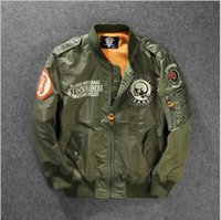 airforce jacket - Flight Jacket Airforce Army Bomber Airforce Flight Jacket for Men Streetwear Epaulet Pilot Mens Military Jackets and Coats MJL186