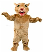 big cougar - DIY costume big Leopard Panther Cat Cougar Mascot Costume Adult Size Cartoon Character carnival costume fancy Costume