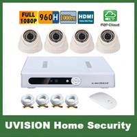 Wholesale HD P H Channel video surveillance TVL doom camera DVR Kit ch CCTV security camera system CCTV system p2p g