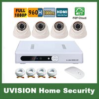 al por mayor kit hd dvr-HD 1080P 960H 4Channel video vigilancia 4pcs 1000TVL doom cámara DVR Kit 4ch CCTV sistema de cámaras de seguridad sistema CCTV p2p 3g