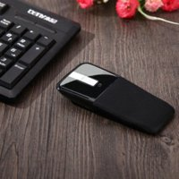 arc mouse blue - 2 GHz Black Arc Touch Wireless Mouse USB Receiver Mice For Pc Laptop On Sale mice type