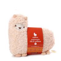 alpaca throws - Perfumed Alpaca Hug Pillow Beige Mokomoko Cushion Aunt merry plush Doll Throw cushion PP Cotton Stuffed Toy