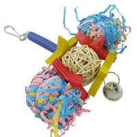 african grey toys - 4 Brand New Colorful Cage Toy for Birds Parrot African Grey Conure FS02027