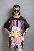 arrived style long - Women s new arrive loose sweet medium long plus size loose t shirt print one piece dress female summer new style casual fashion dresses