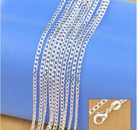 Wholesale Jewelry New Factory Sale quot quot Genuine Solid Sterling Silver Fashion Curb Necklace Chain Jewelry with Lobster