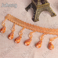 bead trim for curtains - LuxuryLarge Curtain Tassels CM tassels bead fringe for jewelry lace fabric trimming DIY sewing Home Decorative accessories