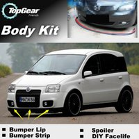 Wholesale Bumper Lips For Fiat Panda MK2 Front Skirt Deflector Spoiler For Car Tuning The Stig Recommend Body Kit Strip