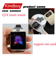 Cheap 2016 NFC Smart watch Q18 1.54 HD inch Touch Screen Camera smartwatch support SIM TF Card for IOS and Android HTC phone VS APRO Q18S