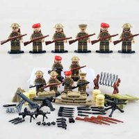army weapons - World War II Military Force Building Blocks Army Soldiers Mode Minifigure Compatible DIY Weapon Set Collection Brick Toy Kids Toys